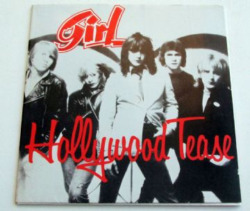 GIRL Hollywood Tease 1980 UK POSTER SLEEVE ROCK MINT MINUS AUDIO